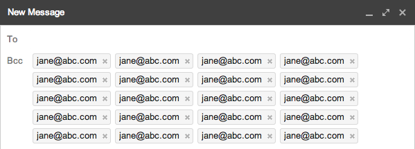 Pasting Contacts into Gmail