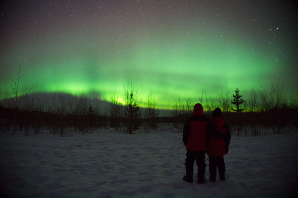 Northern Lights - Me and Wife