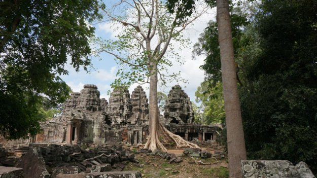 Banteay Kdei, nestled in the forest.