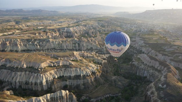 Sunrise balloon ride in Cappadocia. Doesn't get better than this.