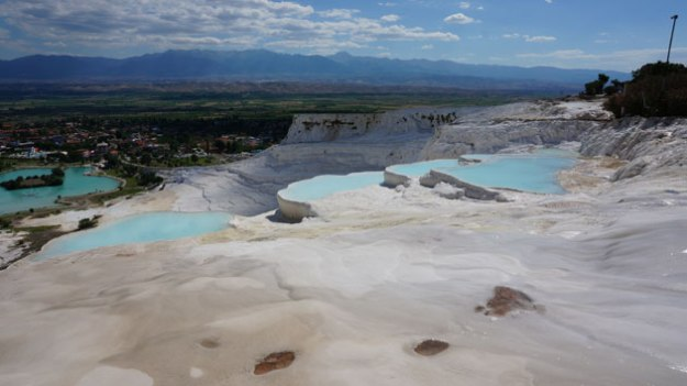 Take a dip in these sort of gross pools.