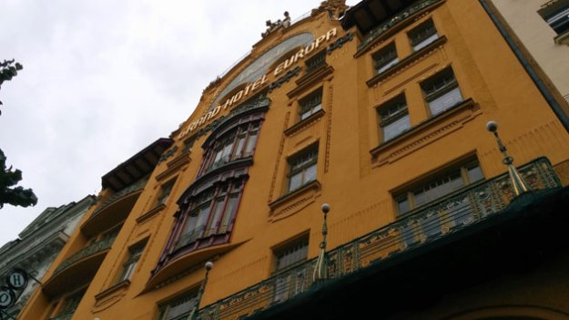 Not the greatest picture, but Grand Hotel Europa is an icon of Art Nouveau in Prague.