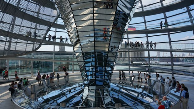 Two words to describe the Reichstag dome: cray cray