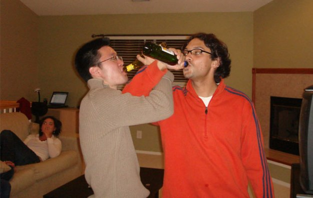 Sharing a libation with my best bro on my 25th b-day.